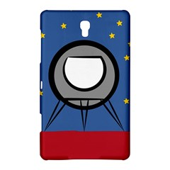 A Rocket Ship Sits On A Red Planet With Gold Stars In The Background Samsung Galaxy Tab S (8 4 ) Hardshell Case