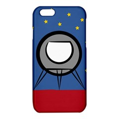 A Rocket Ship Sits On A Red Planet With Gold Stars In The Background iPhone 6/6S TPU Case