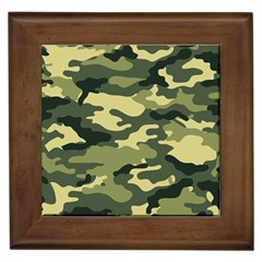 Camouflage Camo Pattern Framed Tiles