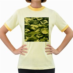 Camouflage Camo Pattern Women s Fitted Ringer T Shirts