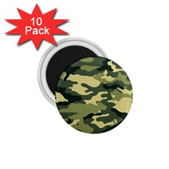 Camouflage Camo Pattern 1.75  Magnets (10 pack)
