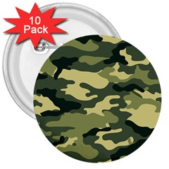 Camouflage Camo Pattern 3  Buttons (10 pack)