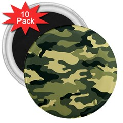 Camouflage Camo Pattern 3  Magnets (10 Pack)