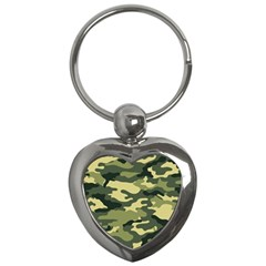 Camouflage Camo Pattern Key Chains (heart)