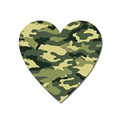 Camouflage Camo Pattern Heart Magnet