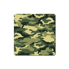 Camouflage Camo Pattern Square Magnet