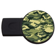 Camouflage Camo Pattern Usb Flash Drive Round (2 Gb)