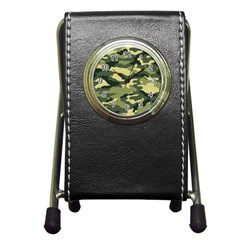 Camouflage Camo Pattern Pen Holder Desk Clocks
