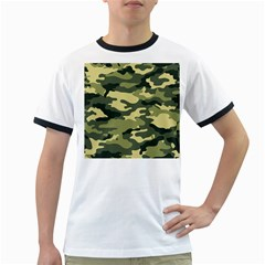 Camouflage Camo Pattern Ringer T-Shirts