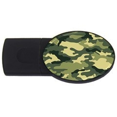 Camouflage Camo Pattern USB Flash Drive Oval (4 GB)