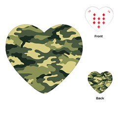 Camouflage Camo Pattern Playing Cards (Heart)