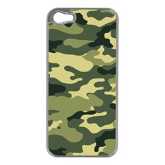 Camouflage Camo Pattern Apple iPhone 5 Case (Silver)
