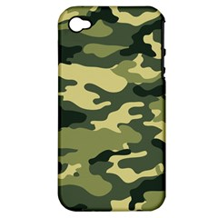 Camouflage Camo Pattern Apple iPhone 4/4S Hardshell Case (PC+Silicone)