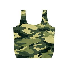 Camouflage Camo Pattern Full Print Recycle Bags (S)