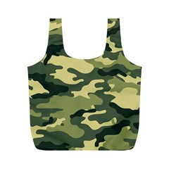Camouflage Camo Pattern Full Print Recycle Bags (M)