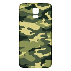 Camouflage Camo Pattern Samsung Galaxy S5 Back Case (White)