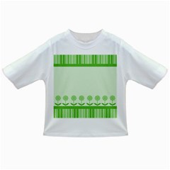 Floral Stripes Card In Green Infant/toddler T Shirts