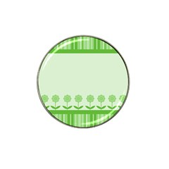 Floral Stripes Card In Green Hat Clip Ball Marker (4 pack)