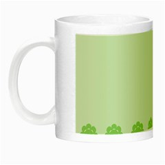 Floral Stripes Card In Green Night Luminous Mugs