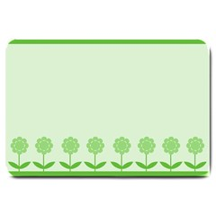 Floral Stripes Card In Green Large Doormat