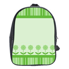 Floral Stripes Card In Green School Bags(large)