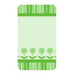 Floral Stripes Card In Green Memory Card Reader