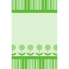 Floral Stripes Card In Green 5 5  X 8 5  Notebooks