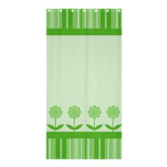 Floral Stripes Card In Green Shower Curtain 36  x 72  (Stall)