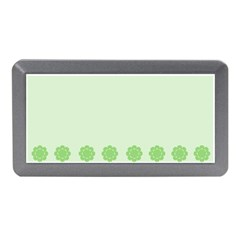 Floral Stripes Card In Green Memory Card Reader (mini)