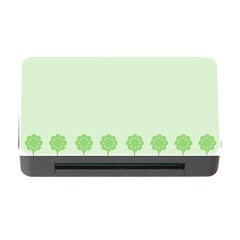 Floral Stripes Card In Green Memory Card Reader With Cf