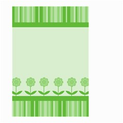 Floral Stripes Card In Green Small Garden Flag (Two Sides)