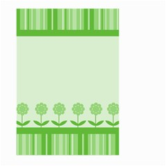Floral Stripes Card In Green Large Garden Flag (Two Sides)