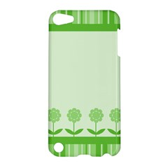 Floral Stripes Card In Green Apple Ipod Touch 5 Hardshell Case