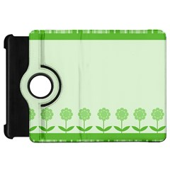 Floral Stripes Card In Green Kindle Fire HD 7