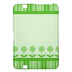 Floral Stripes Card In Green Kindle Fire HD 8.9