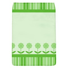Floral Stripes Card In Green Flap Covers (s)