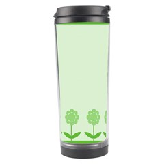 Floral Stripes Card In Green Travel Tumbler
