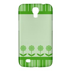 Floral Stripes Card In Green Samsung Galaxy Mega 6.3  I9200 Hardshell Case