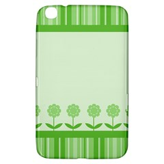 Floral Stripes Card In Green Samsung Galaxy Tab 3 (8 ) T3100 Hardshell Case