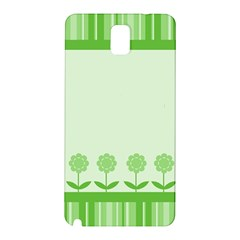 Floral Stripes Card In Green Samsung Galaxy Note 3 N9005 Hardshell Back Case