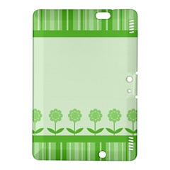 Floral Stripes Card In Green Kindle Fire HDX 8.9  Hardshell Case