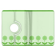 Floral Stripes Card In Green Kindle Fire HDX Flip 360 Case