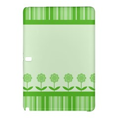 Floral Stripes Card In Green Samsung Galaxy Tab Pro 10 1 Hardshell Case