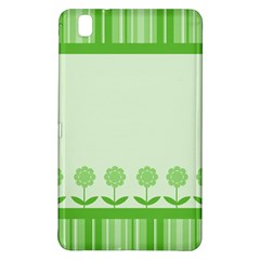 Floral Stripes Card In Green Samsung Galaxy Tab Pro 8.4 Hardshell Case