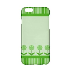 Floral Stripes Card In Green Apple iPhone 6/6S Hardshell Case