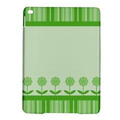 Floral Stripes Card In Green iPad Air 2 Hardshell Cases