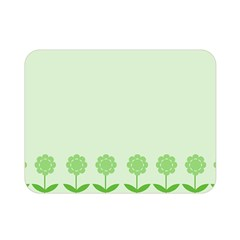 Floral Stripes Card In Green Double Sided Flano Blanket (mini)