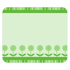 Floral Stripes Card In Green Double Sided Flano Blanket (Small)