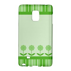 Floral Stripes Card In Green Galaxy Note Edge