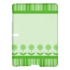 Floral Stripes Card In Green Samsung Galaxy Tab S (10.5 ) Hardshell Case